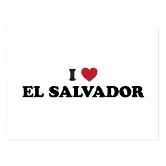 J'aime le Salvador Carte Postale