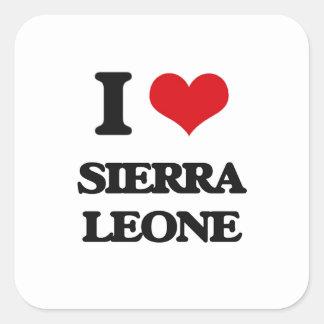 J'aime le Sierra Leone Sticker Carré