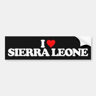 J'AIME LE SIERRA LEONE AUTOCOLLANT DE VOITURE