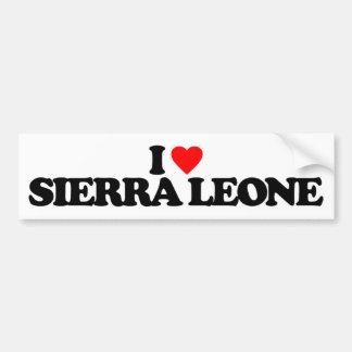 J'AIME LE SIERRA LEONE AUTOCOLLANTS POUR VOITURE