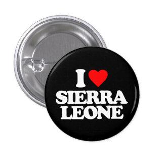 J'AIME LE SIERRA LEONE PIN'S AVEC AGRAFE