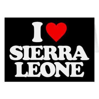 J'AIME LE SIERRA LEONE CARTES