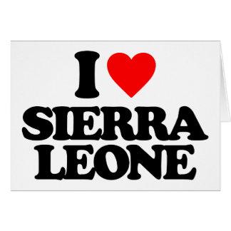 J'AIME LE SIERRA LEONE CARTES DE VŒUX