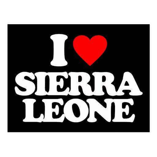 J'AIME LE SIERRA LEONE CARTE POSTALE