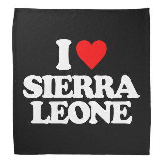 J'AIME LE SIERRA LEONE FOULARDS