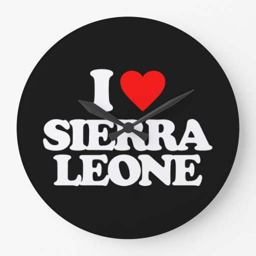 J'AIME LE SIERRA LEONE HORLOGE