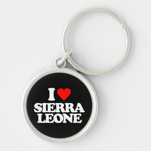 J'AIME LE SIERRA LEONE PORTE-CLEFS