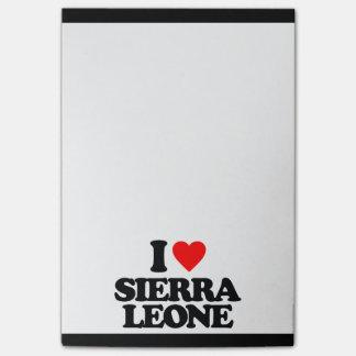 J'AIME LE SIERRA LEONE NOTES POST-IT