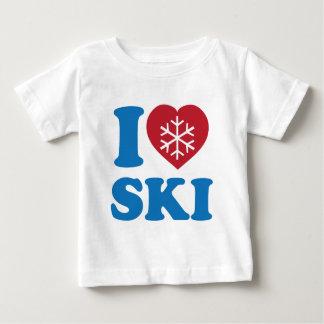 J'aime le ski t-shirt pour bébé