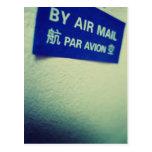 J'aime le snail mail - par poste aérienne carte postale