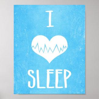 J'aime le sommeil posters