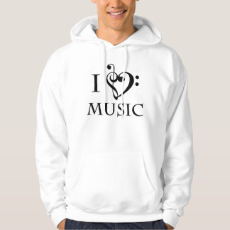 J'aime le sweat - shirt à capuche de musique