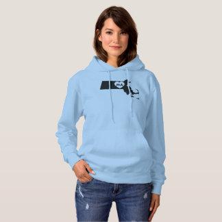 J'aime le sweatshirt à capuchon des femmes du