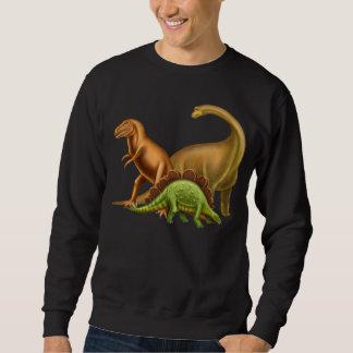 J'aime le sweatshirt foncé adulte de dinosaures