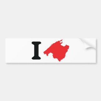 J'aime le symbole de découpe de Majorque Autocollant De Voiture