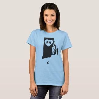 J'aime le T-shirt de base des femmes d'état d'Île
