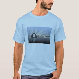 J'aime le T-shirt de bleu de Portland