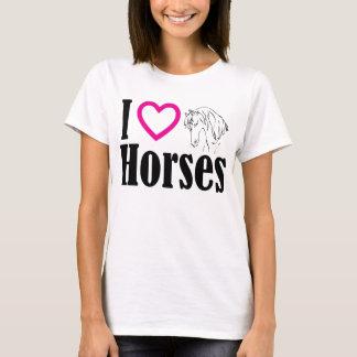 J'aime le T-shirt de chevaux