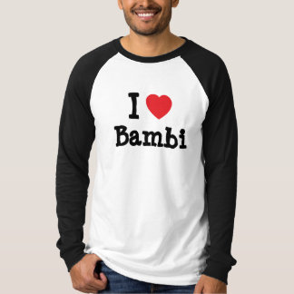 J'aime le T-shirt de coeur de Bambi