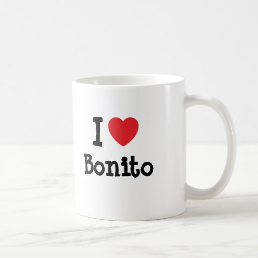 J'aime le T-shirt de coeur de bonito Tasse À Café