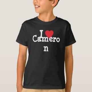 J'aime le T-shirt de coeur de Cameron