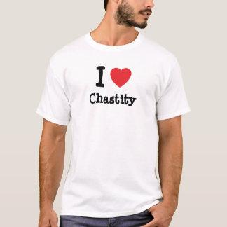 J'aime le T-shirt de coeur de chasteté