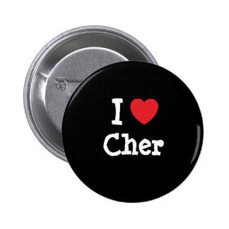 J'aime le T-shirt de coeur de Cher Badges