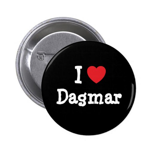 J'aime le T-shirt de coeur de Dagmar Badge Avec Épingle