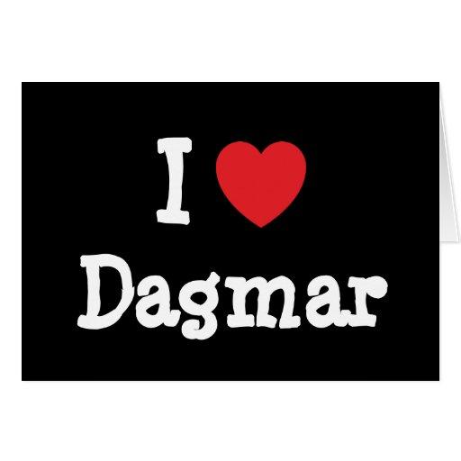 J'aime le T-shirt de coeur de Dagmar Carte De Vœux