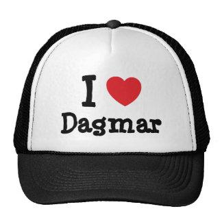 J'aime le T-shirt de coeur de Dagmar Casquettes De Camionneur