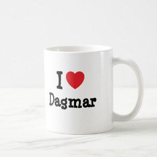 J'aime le T-shirt de coeur de Dagmar Tasse