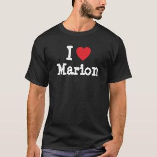 J'aime le T-shirt de coeur de Marion