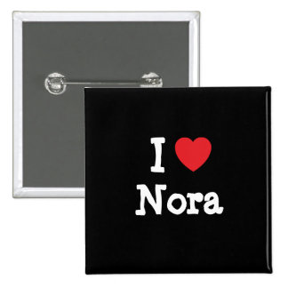 J'aime le T-shirt de coeur de Nora Badge