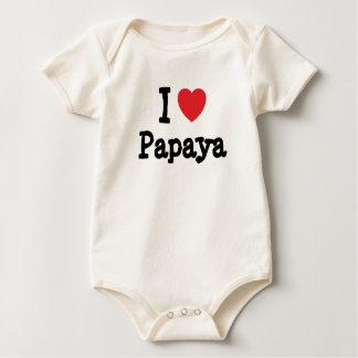 J'aime le T-shirt de coeur de papaye