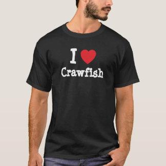 J'aime le T-shirt de coeur d'écrevisses