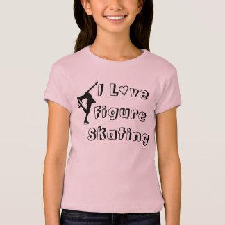 J'aime le T-shirt de filles de patinage artistique