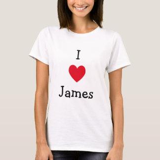 J'aime le T-shirt de James