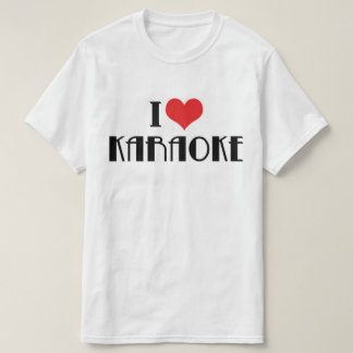 J'aime le T-shirt de karaoke