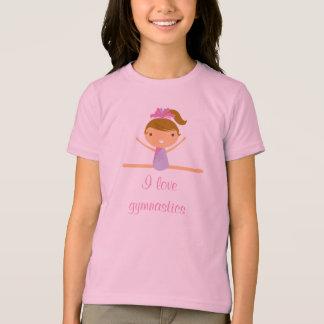 J'aime le T-shirt de la fille mignonne fendue de