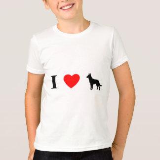 J'aime le T-shirt de l'enfant de Malinois
