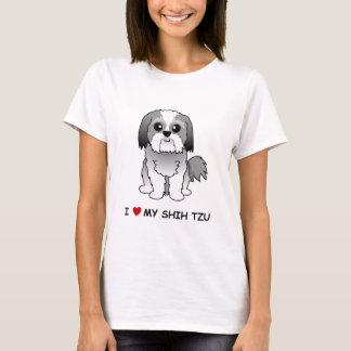 J'aime le T-shirt de mes dames de Shih Tzu