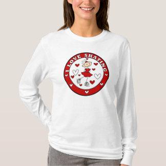 J'aime le T-shirt de patinage