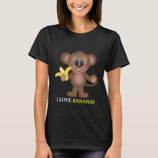 J'aime le T-shirt des femmes de bananes