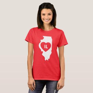 J'aime le T-shirt des femmes d'état de l'Illinois