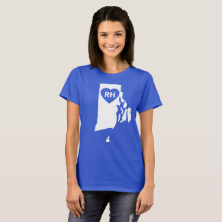 J'aime le T-shirt des femmes d'état d'Île de Rhode