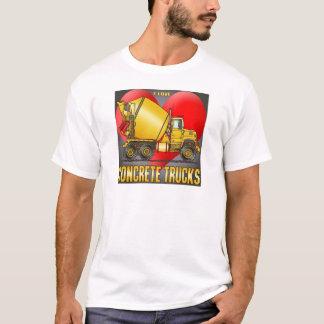 J'aime le T-shirt des hommes de camions de béton