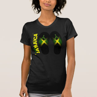J'aime le T-shirt détruit par dames de la Jamaïque