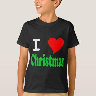 J'aime le T-shirt d'obscurité d'enfants de Noël