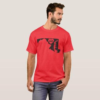 J'aime le T-shirt foncé de base des hommes d'état