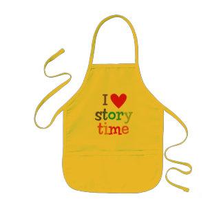 J'aime le T-shirts et les cadeaux de Storytime Tablier Enfant